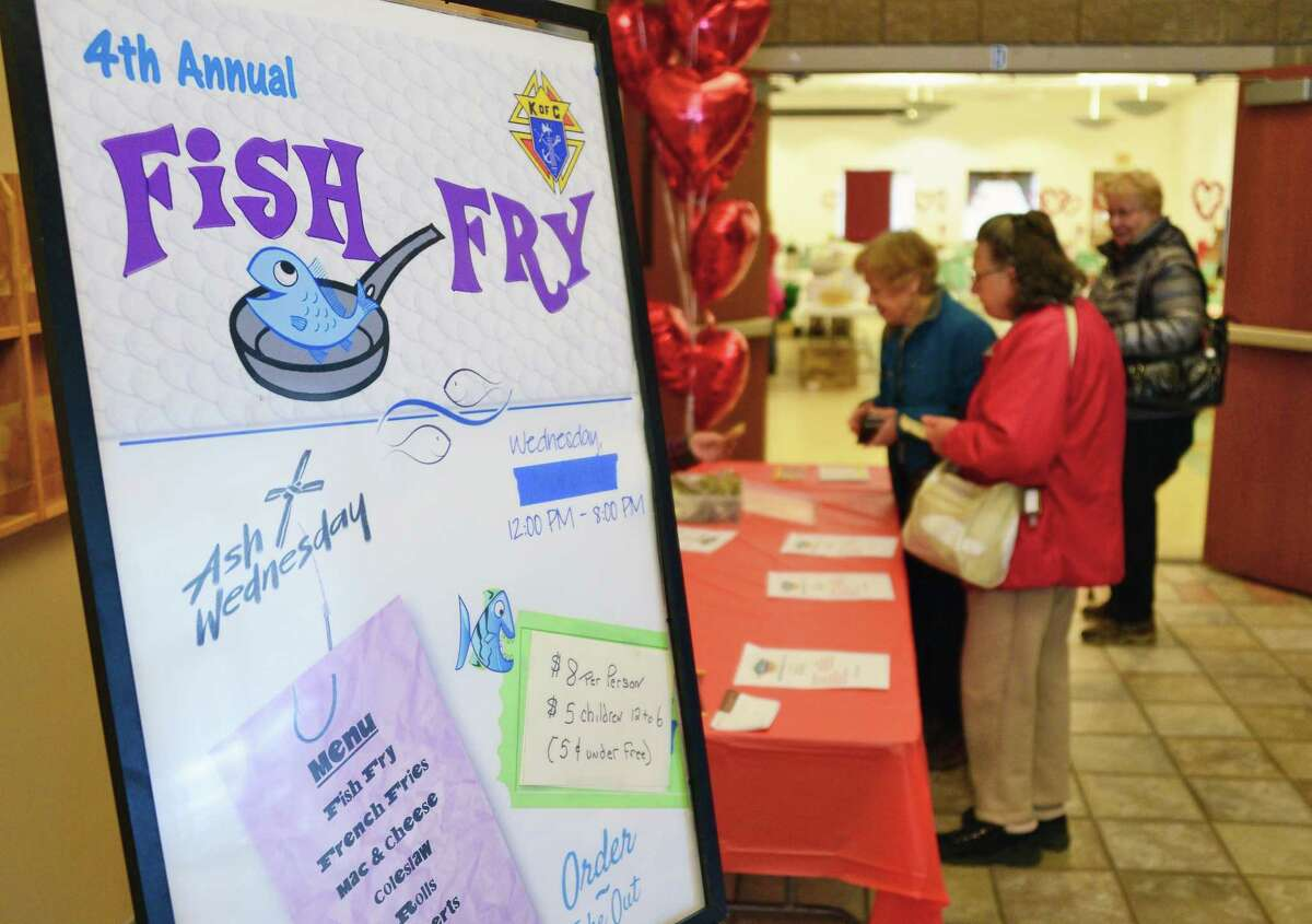 St. Edward's Church hosts its annual Ash Wednesday Fish Fry Dinner Feb. 14, 2018 in Clifton Park, NY. (John Carl D'Annibale/Times Union)