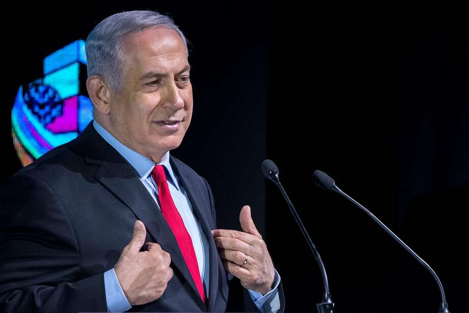 Israeli Prime Minister Benjamin Netanyahu hit back at the police, a critical witness and at his political opponents demanding that he resign. Photo: JACK GUEZ, AFP/Getty Images