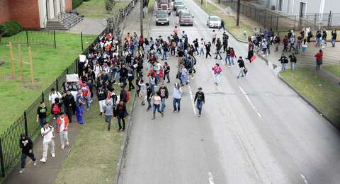Austin High School students protest arrest of immigrant