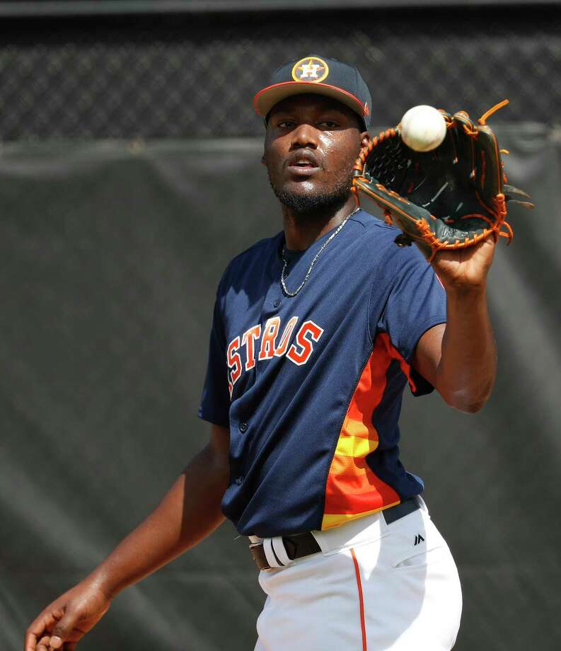 """Astros pitcher David Paulino has returned from an 80-game suspension. Asked on Wednesday why he took a banned substance last year, Paulino said, """"I needed to do something for my health and the ability to play baseball."""" Photo: Karen Warren, Houston Chronicle / © 2018 Houston Chronicle"""