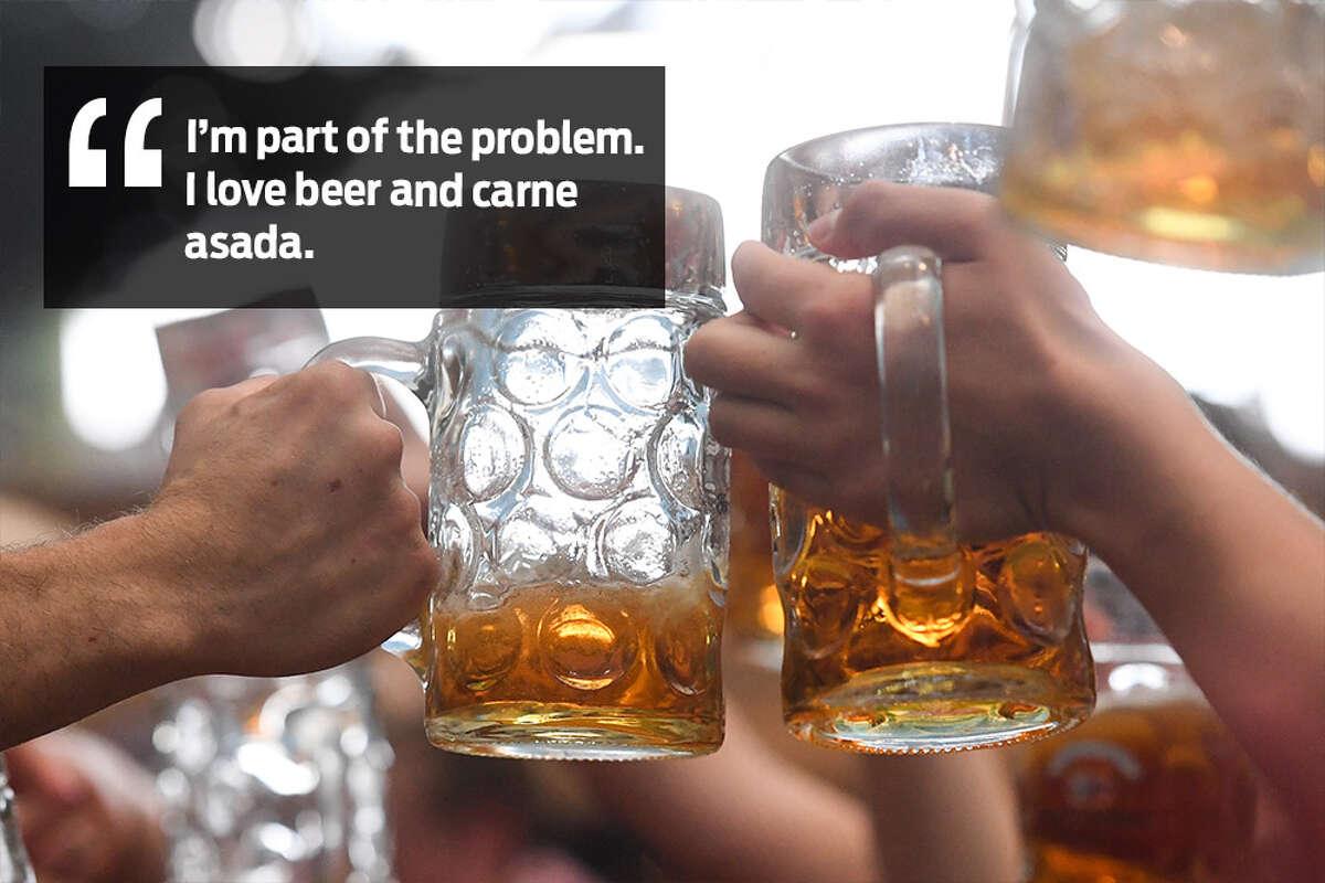 Rene Flores: I'm part of the problem... I love beer and carne asada.