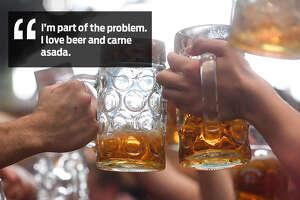 Rene Flores: I'm problem... I love beer and carne asada.