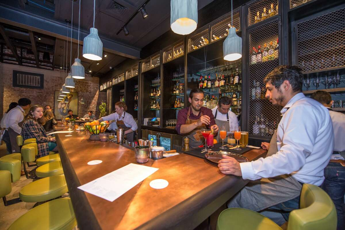 The Maverick Texas Brasserie, located at 710 S. St. Mary's St., opened to a hungry crowd on Monday, Feb. 12, 2017, in Southtown.