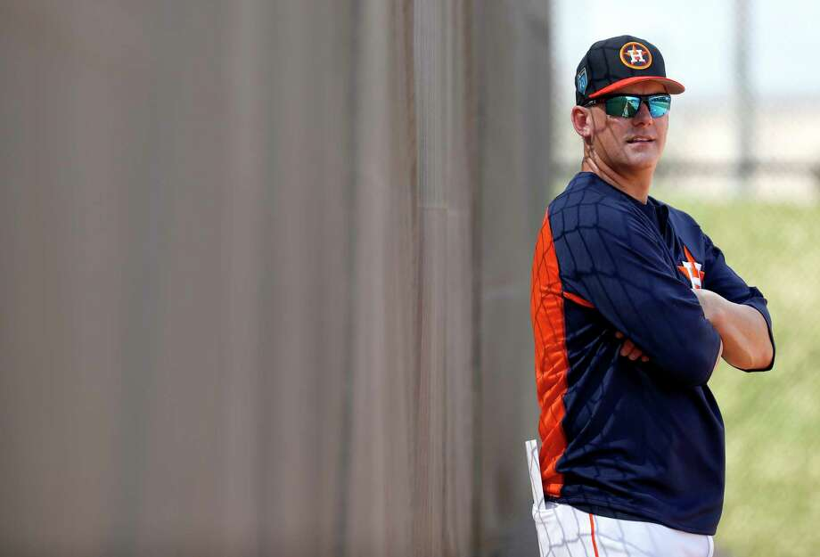 Astros manager A.J. Hinch thought about his teenage daughters on Wednesday when he heard news of the school shooting in Florida - one hour away from where the Astros hold spring training. Photo: Karen Warren, Houston Chronicle / © 2018 Houston Chronicle