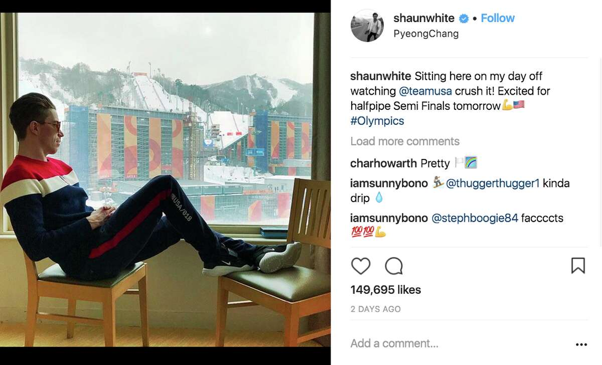 Athletes share behind-the-scenes moments at the 2018 Winter Olympic Games on social media.