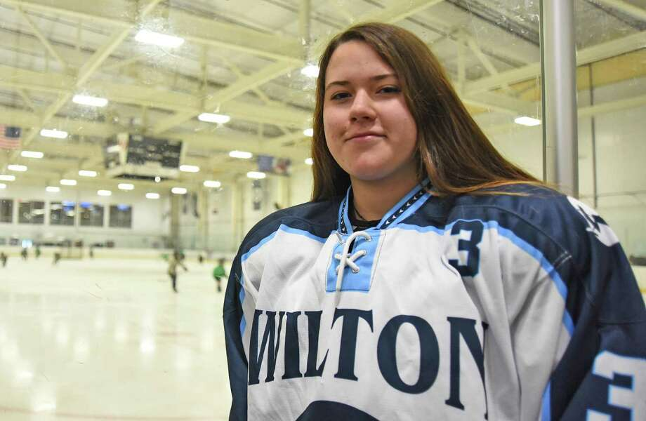 Nattalia Loredo Ramirez, or Natty as she is known to her friends and teammates, isn't just a member of the Wilton-Norwalk-Brien McMahon co-op hockey team. Shes also a member of Mexico's U-18 national team. Photo: John Nash / Hearst Connecticut Media