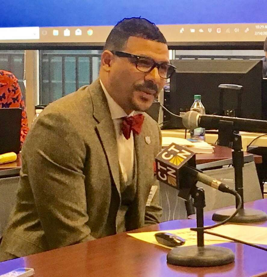 Capital Prep Harbor Charter School founder Steve Perry speaks to state Board of Education in Hartford on Wednesday. Photo: Linda Conner Lambeck / Hearst Connecticut Media