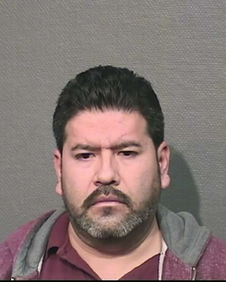 Randu Salgado, 43, is accused of breaking an 18-year-old driver's side-view mirror while in traffic and then later assaulting him in a parking lot in a fit that unfolded in-part on video captured by the victim. Photo: Harris County Precinct 5 Constable's Office