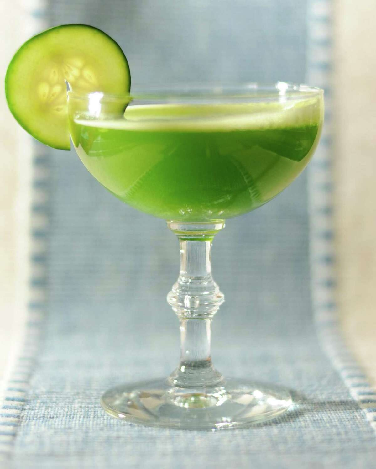 """Green Thumb cocktail from """"Meehan's Bartender Manual"""" by Jim Meehan."""