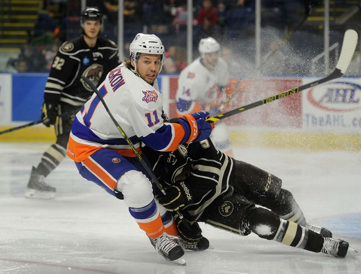 Chris Langkow was a centerman for the Sound Tigers and is now the acting captain for the Worcester Railers.