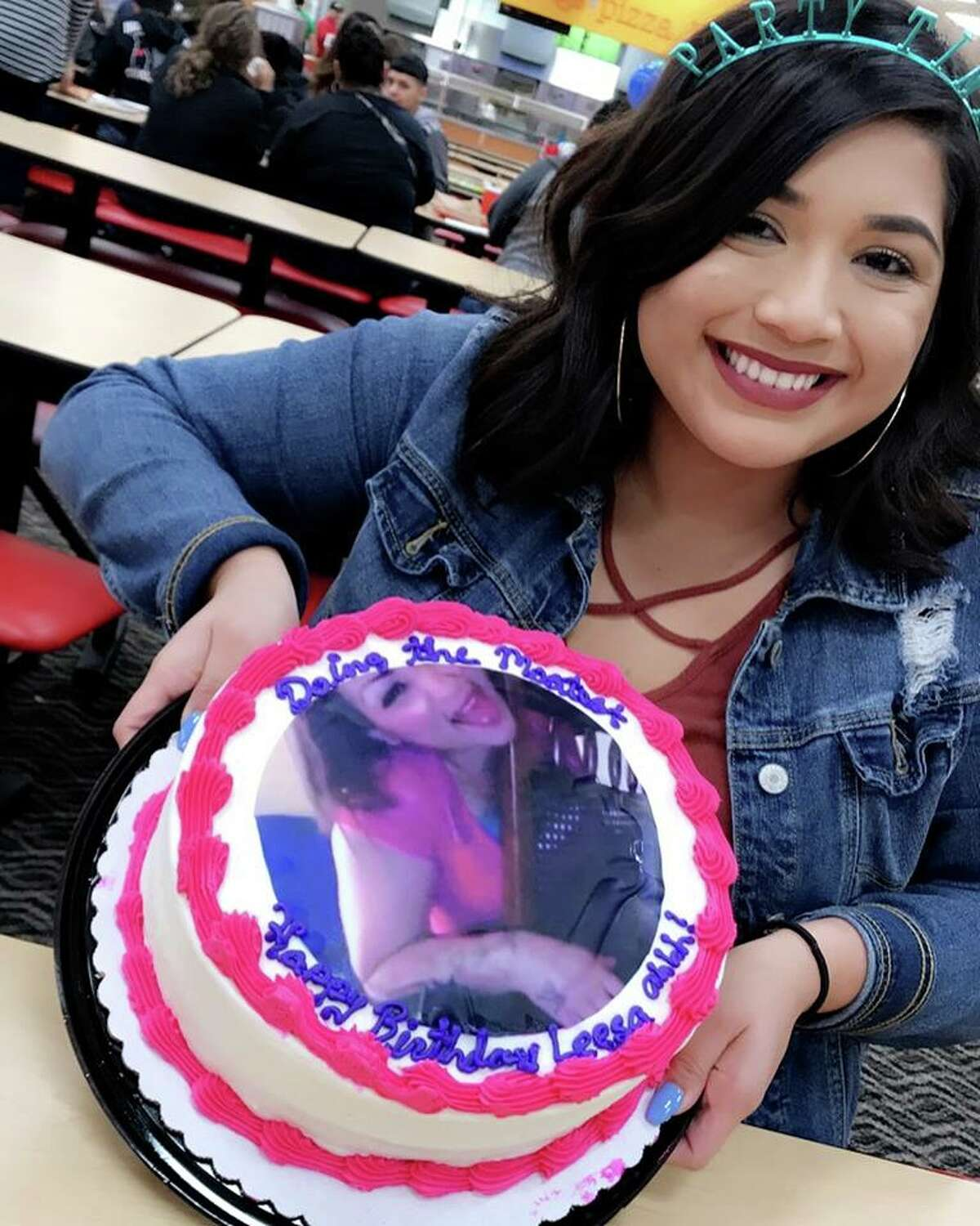 Leesa Perez blew out 20 candles atop a Senitva-themed cake at Peter Piper's Pizza on Tuesday.