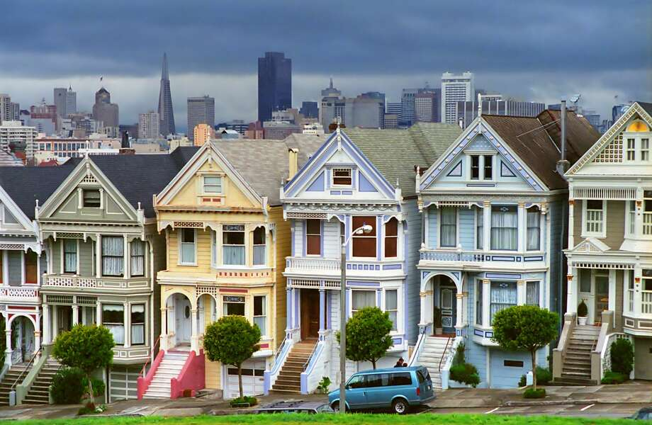 Row of seven Victorian houses in central San Francisco known as Painted Ladies. Photo: LimeWave - Inspiration To Exploration/Getty Images