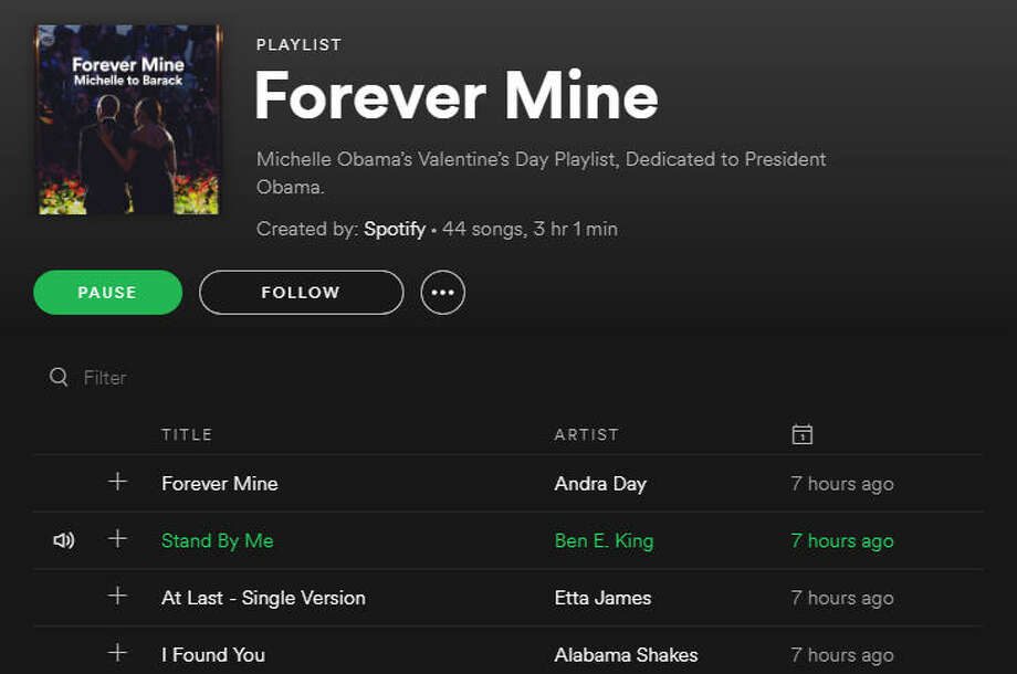 Michelle Obama made Barack a Valentine's Day Spotify