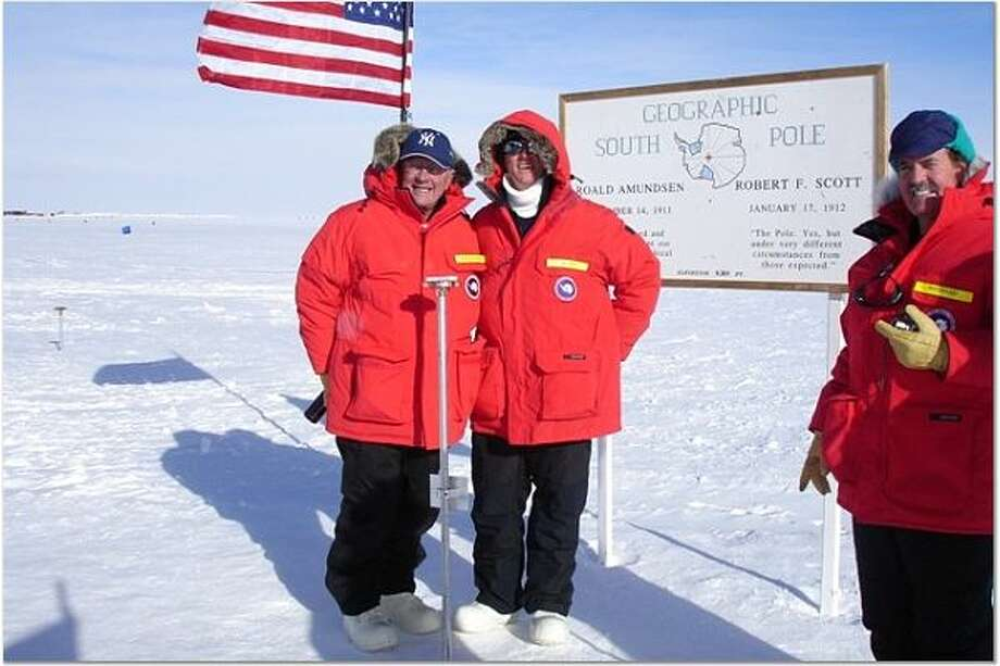 Congressman Bob Inglis at the South Pole with New York Congressman Sherwood Boehlert during a 2006 fact-finding mission on climate change. The South Carolina Republican has been trying organizing conservatives behind the science of man-made climate change since he lost a GOP primary in 2010, in part due to bucking party orthodoxy on the issue. Photo: Courtesy Of Bob Inglis