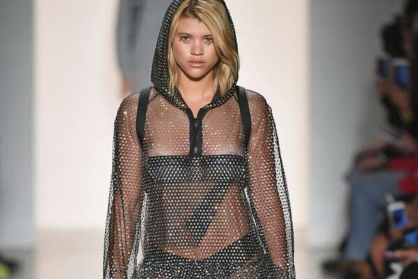 NEW YORK, NY - SEPTEMBER 08: Sofia Richie walks the runway during the Jeremy Scott Ready to Wear Spring/Summer 2018 fashion show during New York Fashion Week on September 8, 2017 in New York City. (Photo by Victor VIRGILE/Gamma-Rapho via Getty Images)