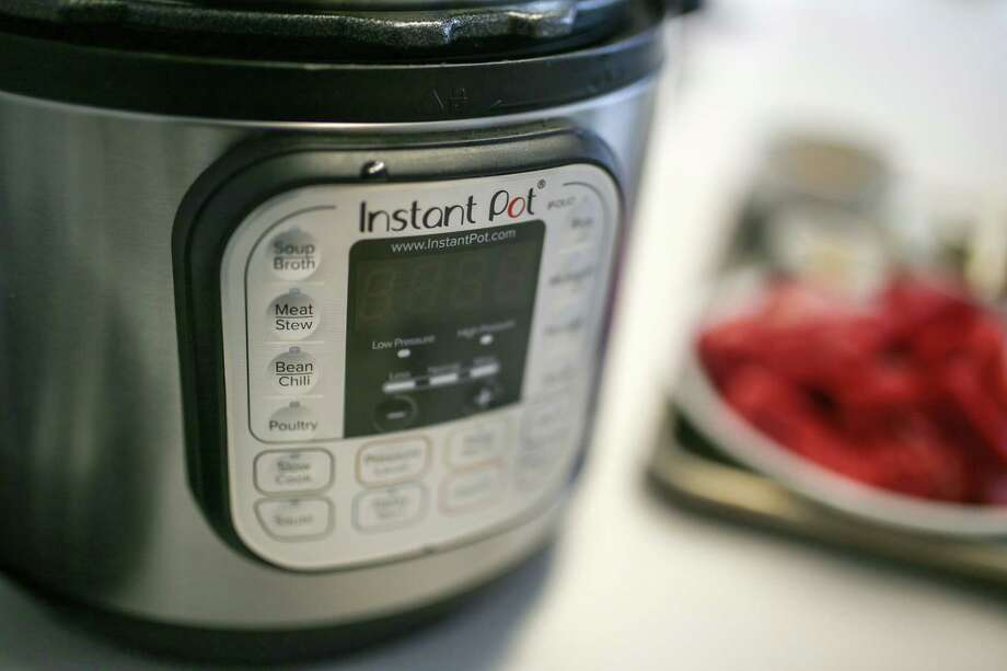 The Instant Pot, a hot Christmas gift for the cook, photographed on Tuesday, Nov, 21, 2017 at the Detroit Free Press in Detroit, Mich. (Kimberly P. Mitchell/Detroit Free Press/TNS) Photo: Kimberly P. Mitchell / Detroit Free Press