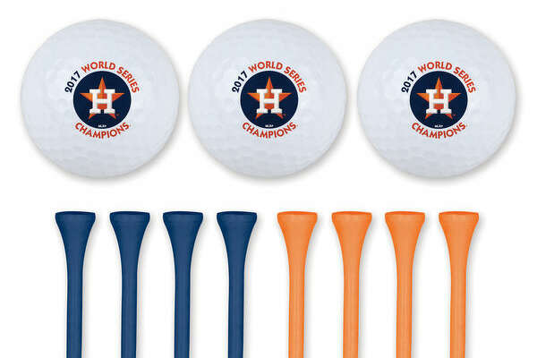 Astros golf ball and tee set
