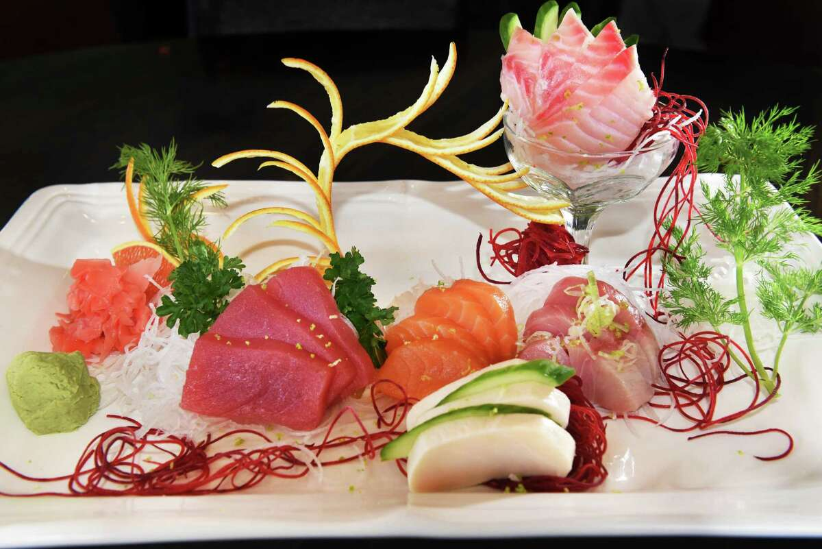 Sashimi Deluxe at Pebbles Asian Fusion restaurant Saturday Feb. 10, 2018 in Colonie, NY. (John Carl D'Annibale/Times Union)
