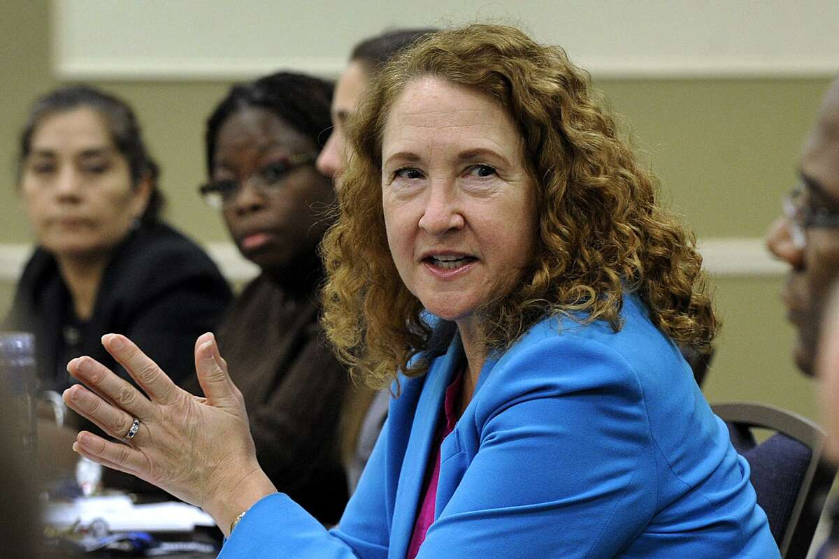U.S. Rep. Elizabeth Esty visits Western Connecticut State University in Danbury Wednesday, January 24, 2018, to speak with students about immigration.