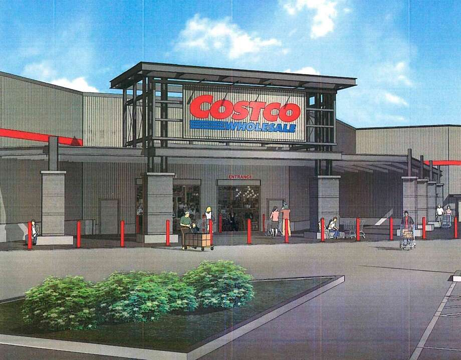 Images for the proposed development of a new Costco warehouse for the city of Webster, presented to the planning and zoning commission on Feb. 7, 2018. City council must now consider the proposal on two ordinance readings before the development can progress. Photo: City Of Webster