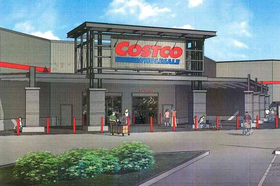 Images for the proposed development of a new Costco warehouse for the city of Webster, presented to the planning and zoning commission on Feb. 7, 2018. City council must now consider the proposal on two ordinance readings before the development can progress.