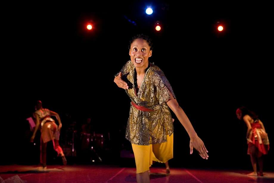 Award-win ning choreogra pher and performer Delina Patrice Brooks, shown in an earlier work, performed at the Black Choreogra phers Festival. Photo: Hardy Wilson