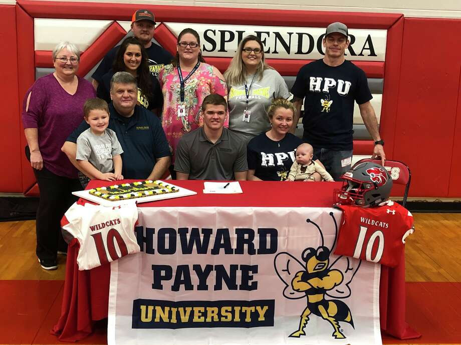 Splendora senior Connor Day signs his national letter of intent with Howard Payne University football during a ceremony on Tuesday, Feb. 13, 2018 at Splendora High School. Photo: Submitted Photo