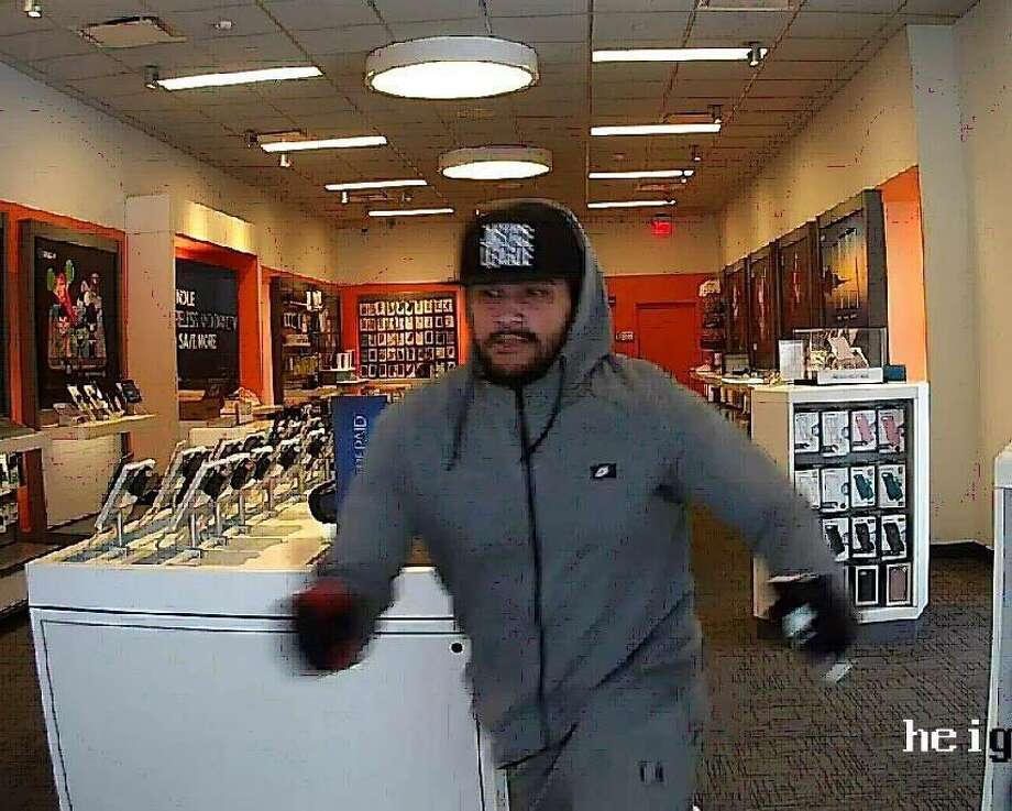 Anyone who thinks they can identify the suspect is asked to contact the Derby Police Department at 203-735-7811. All calls can remain confidential. Police said on Feb. 14, 2018, the suspect is wanted for questioning about cell phone thefts in Derby, Conn., this week. Photo: Contributed Photo / Derby Police Department / Contributed Photo / Connecticut Post Contributed