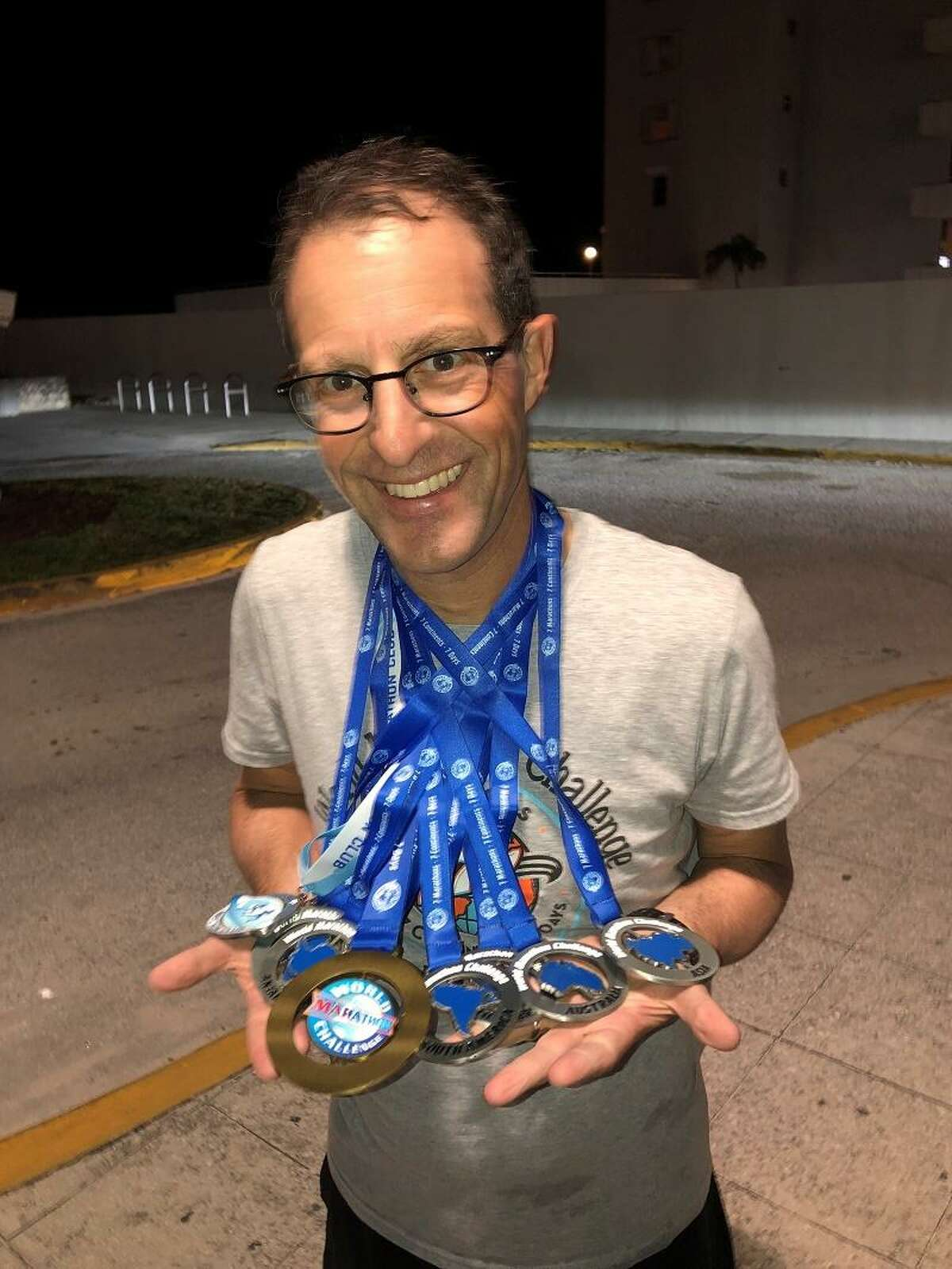 New Haven lawyer Josh Cohen ran 7 marathons in 7 days on 7 continents.