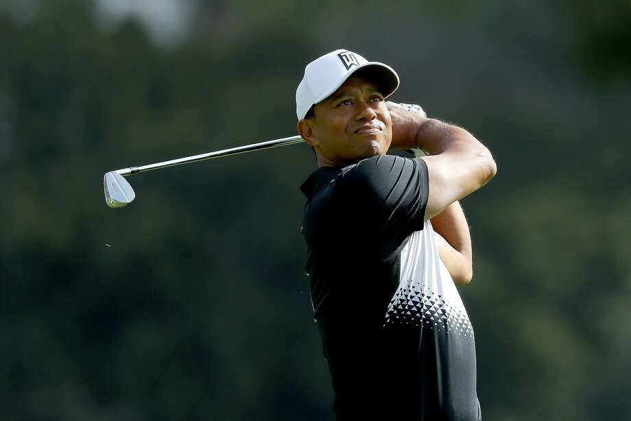 Tiger Woods hits a shot during the Pro-Am of the Genesis Open at the Riviera Country Club on February 14, 2018 in Pacific Palisades, California. Photo: Warren Little, Getty Images