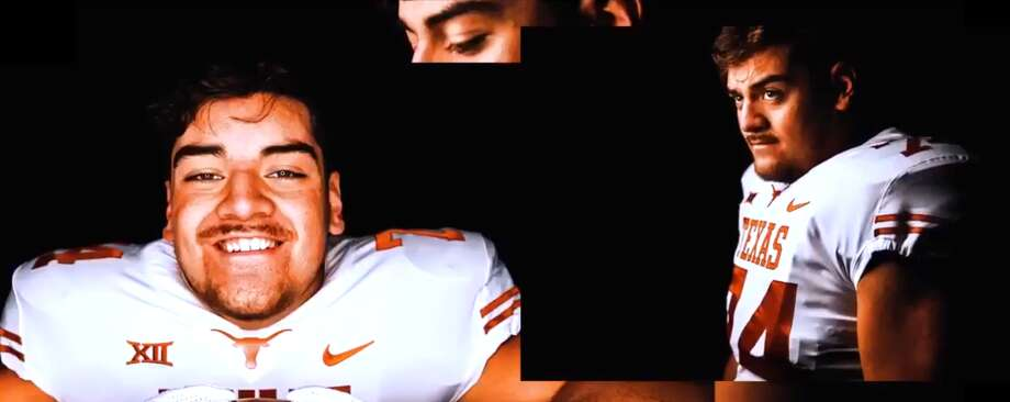 """Junior Angilau OL   6-6   297 lb   Salt Lake City, Utah (East) """"You can even ask Junior, he's with us not the Sooners""""  Photo: University Of Texas"""