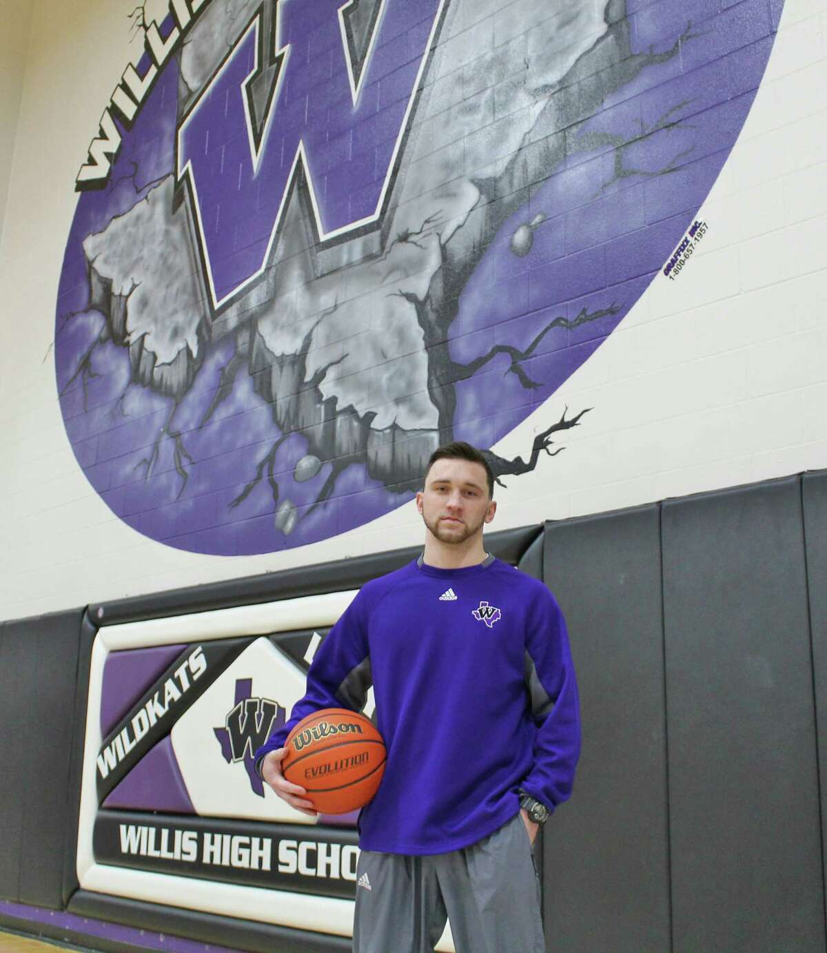 Willis varsity assistant Payne Andrus was The Courier's Player of the Year as a high school senior in 2013. Now he is preparing to coach the Wildkats in the Class 5A playoffs in his first year with the team.