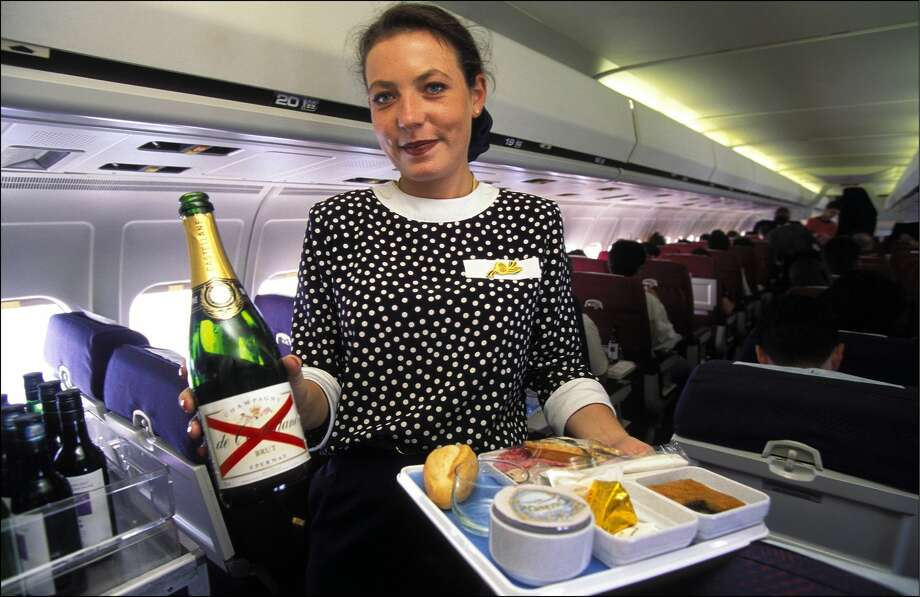 1990s: Planes still served in-flight meals on domestic flights  The 90s was the last decade passengers received complimentary meals on domestic flights. By the 2000s, most airlines did away with in-flight meal services, with the exception of international travel.  Photo: Etienne DE MALGLAIVE/Gamma-Rapho Via Getty Images
