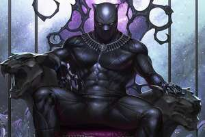 "The new film ""Black Panther"" may spotlight the title character on the big screen, but this cropped image of the variant cover to ""Black Panther"" No. 1, written by Ta-Nehisi Coates and on sale in May 2018, is a reminder the character is first and foremost a comic book superhero — one with a legacy in comics that goes back more than 50 years."