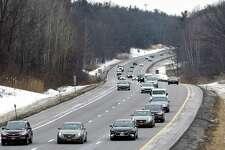 Traffic moves along the Northway near Thaddeus Kosciusko Bridge on Wednesday, Feb. 14, 2018, in Halfmoon, N.Y.  (Will Waldron/Times Union)