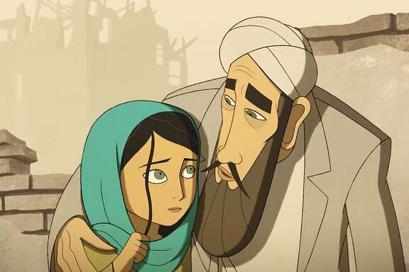"""This image released by GKIDS Films shows a scene from """"The Breadwinner,"""" which was nominated for an Oscar, Tuesday, Jan. 23, 2018, for best animated feature. (GKIDS Films via AP)"""