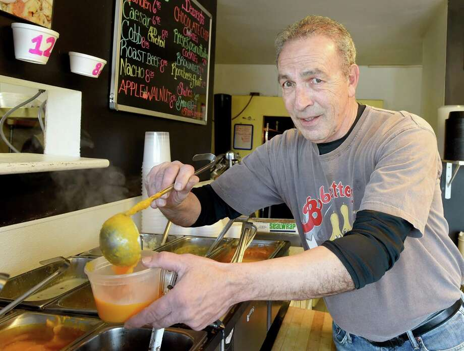 Gary Caulfield, co-owner of Bobette's Take Out  in Milford, with  butternut squash. Photo: Peter Hvizdak / Hearst Connecticut Media File / ©2017 Peter Hvizdak