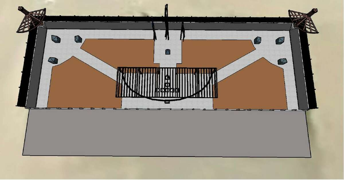 These artist renderings illustrate the veterans memorial that is proposed for a site near the Midland County Annex.