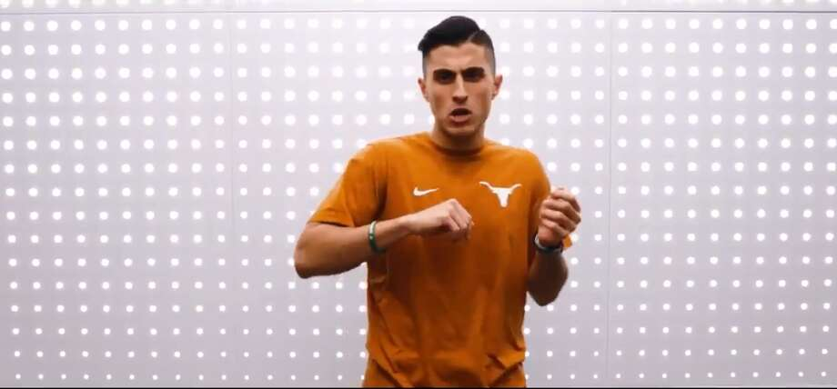 PHOTOS: A look at Ariea Bastami and the lyrics he used to highlight the Longhorns' recruiting classAriea Bastami, the voice behind Texas' RevolUTion18 video, is a sophomore at UT studying journalism.Browse through the photos above for a look at Ariea Bastami and the lyrics he put together about the Longhorns recruiting class. Photo: University Of Texas At Austin