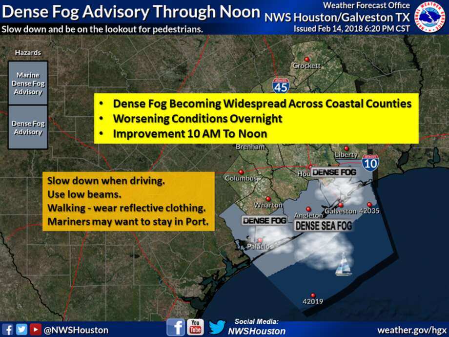 Dense sea fog reducing visibility to 1/4 mile or less over the nearshore waters, bays, and intercoastal waterway. Sea fog spreading across the coastal counties throughout the evening hours. Worsening conditions overnight. Fog should begin to dissipate between 10 am and noon Thursday.