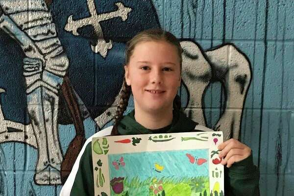 Brooklynn Kuhl, an eighth grade student at Christ the King School, had their her entered into the Michigan Association of Conservation Districts competition. Kuhl has received first place at the state level. (Submitted photo)