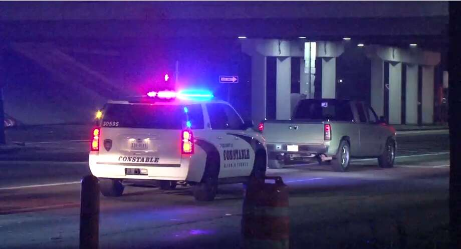 A road rage incident resulted in one man being hospitalized in serious condition, Thursday Feb. 15, 2018. The altercation took place at Spencer Highway at Sam Houston Parkway. Photo: Metro Video