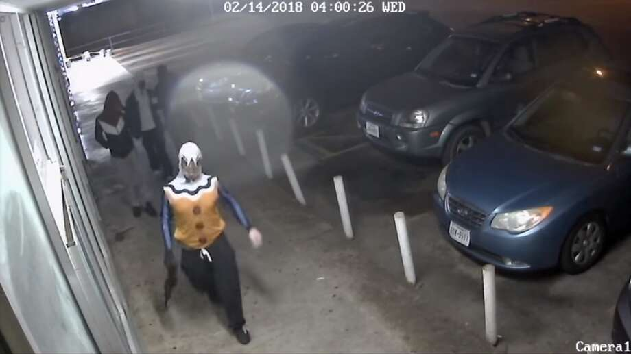 The Fort Worth Police Department is searching for five men caught on surveillance video storming a game room in Texas game room, armed with guns. Anyone with information about the robbery is encouraged to call the Fort Worth police at 817-469-8477. Photo: Fort Worth Police Department, Fort Worth Police Department