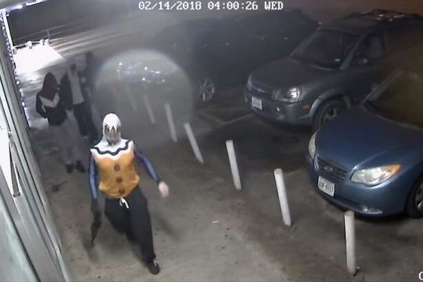 The Fort Worth Police Department is searching for five men caught on surveillance video storming a game room in Texas game room, armed with guns. Anyone with information about the robbery is encouraged to call the Fort Worth police at 817-469-8477.