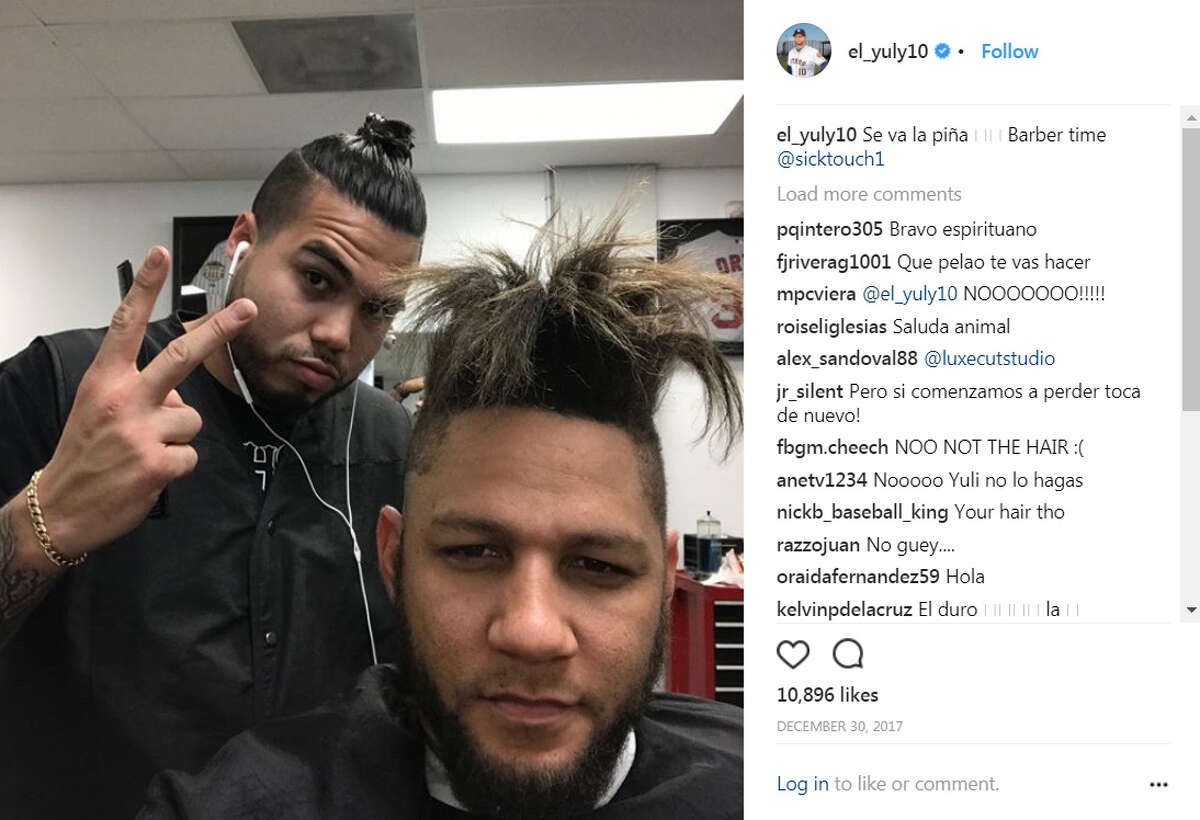 Yuli Gurriel ... Made sure his hair stayed in shape in the offseason. (Instagram)