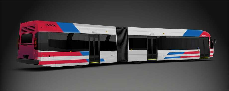 Metropolitan Transit Authority is considering the purchase of 14 buses to operate bus rapid transit along Post Oak in the Uptown area. Officials released an initial design on Feb. 14, 2018, as it prepared for board members to approve purchasing the buses. Photo: Metropolitan Transit Authority
