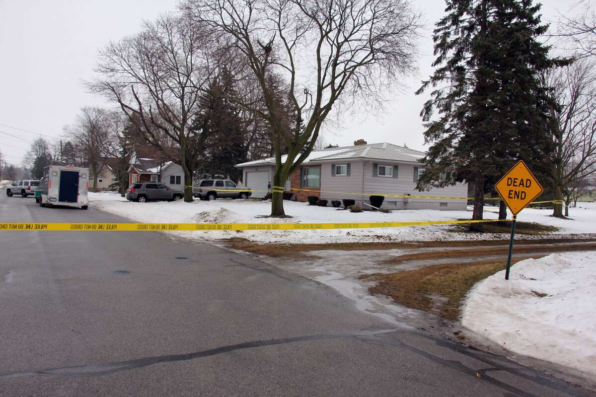 Police are on scene Thursday morning at a residence in the 500 block of Beach Street in the village of Sebewaing.
