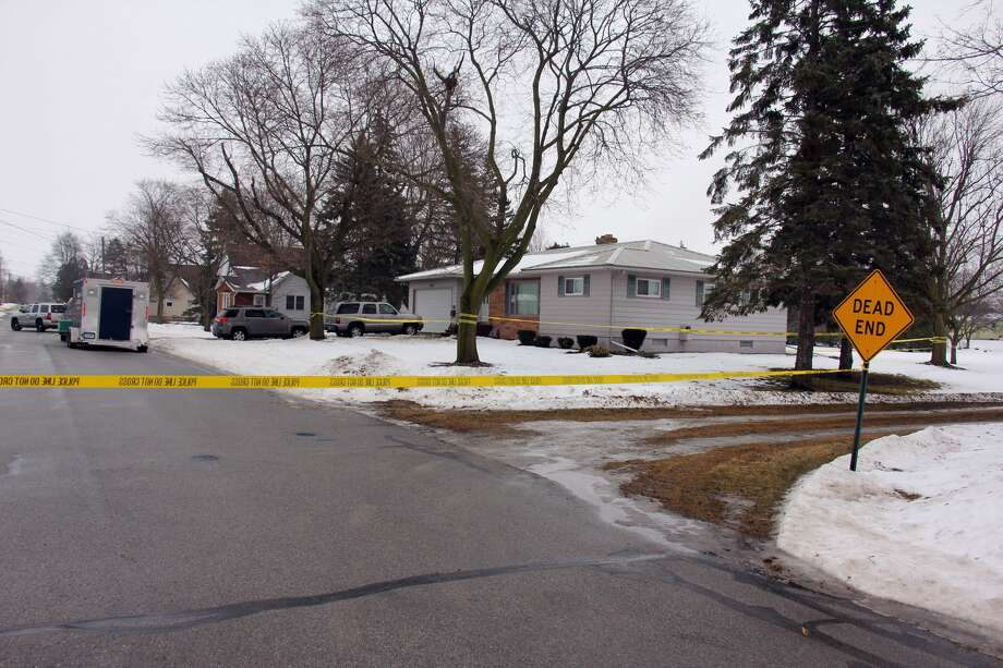 Police are on scene Thursday morning at a residence in the 500 block of Beach Street in the village of Sebewaing. Photo: Brenda Battel/Huron Daily Tribune