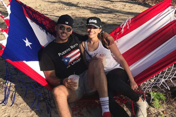 Houston Astros shortstop Carlos Correa and his fiancee Daniella Rodriguez visited Puerto Rico in the offseason.