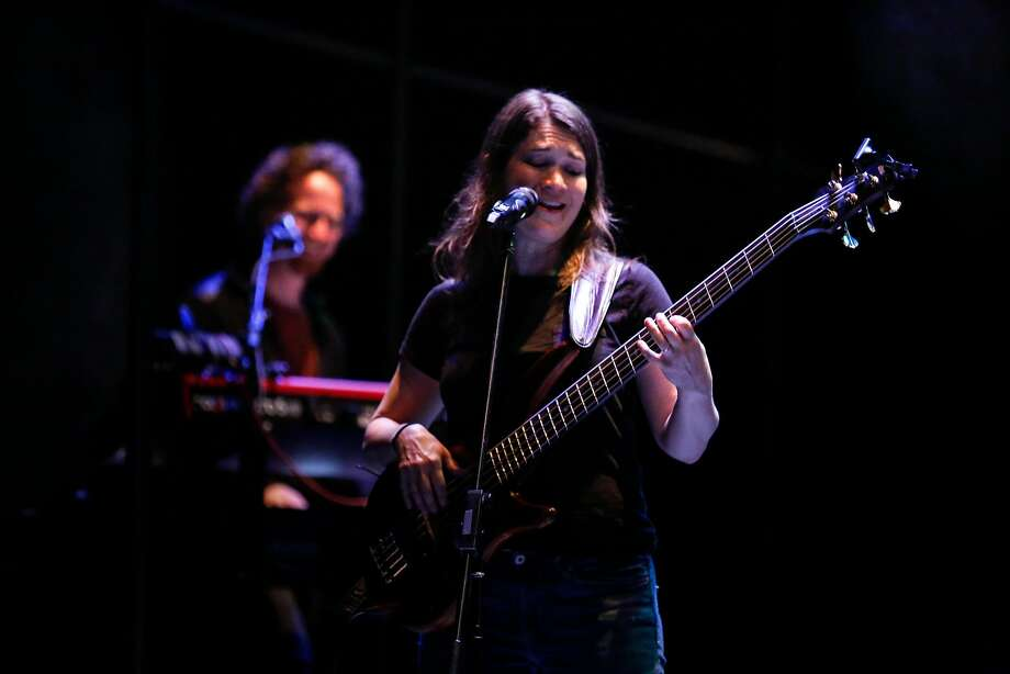 """Kate Kilbane and Dan Moses rehearses """"Weightless"""" a Rock Opera by the Kilbanes at Z Space on Wednesday, February 14, 2018 in San Francisco, California. Photo: Amy Osborne, Special To The Chronicle"""